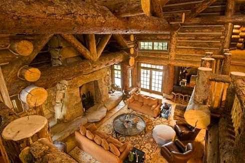 Inside Pictures Of Log Cabins Log Cabin Interior Design An