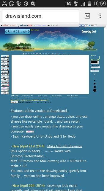 Drawsland.com  per disegnare