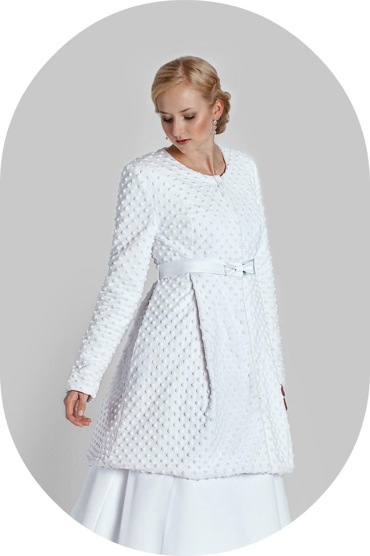 Wintermantel für die Braut / Felljacke aus Minky zum Brautkleid ...