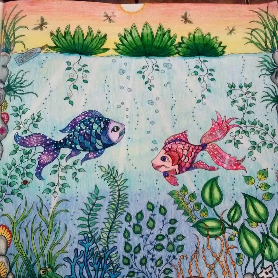 Meus peixinhos galáxia haha #boracolorirtop #forumdacriatividade #jardimsecretotop #jardimsecretoinspire #inspiracaojardimsecreto #oceanoperdido #divasdasartes #coloramo #amocolorir #colorindolivrostop #prazeremcolorir #terapianojardim #artecomoterapia