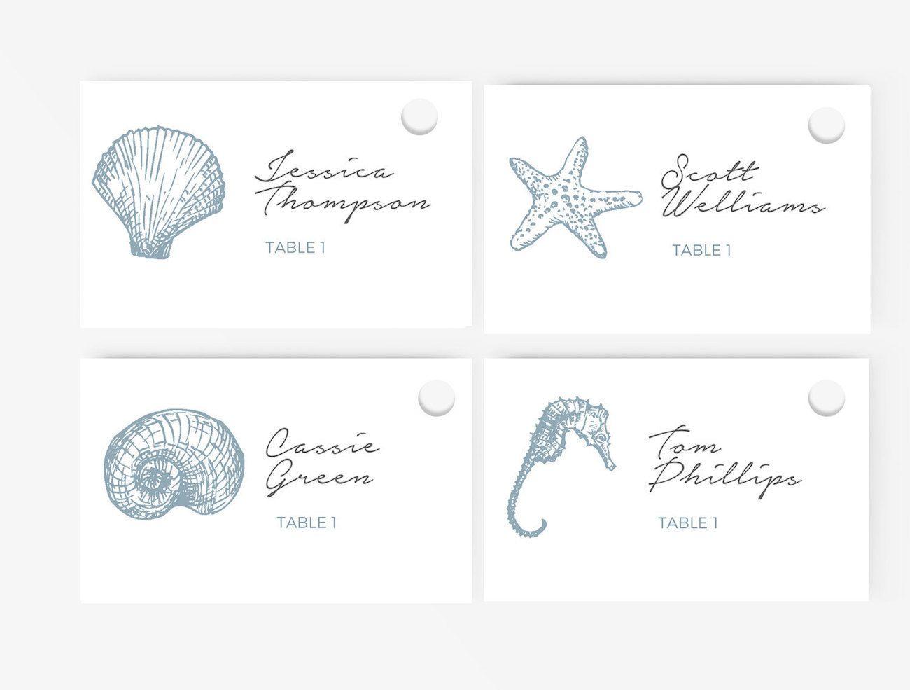 Beach Wedding Escort Card Ideas Beach Weddings And Weddings
