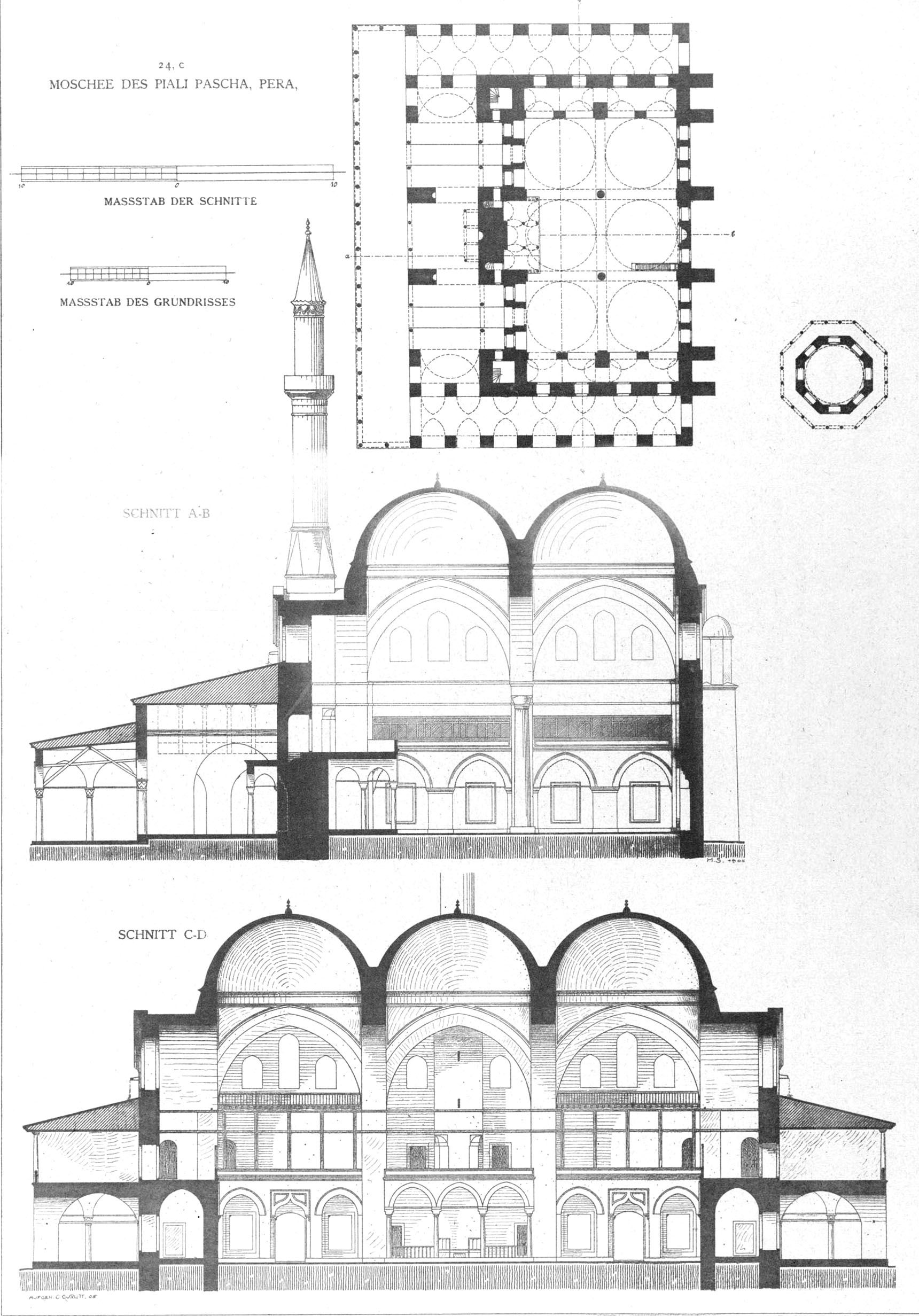 Plan Elevation Section Of Mosque : Ortaköy mosque plan google search colonnade