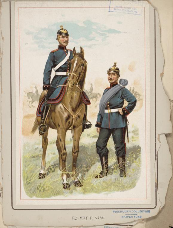 """German; 8th(1st Rhenish) Field Artillery Regiment """"von Holtzendorff"""". Raised 1816. Home Depot Saarbruken. XXI Army Corps. c.1900"""