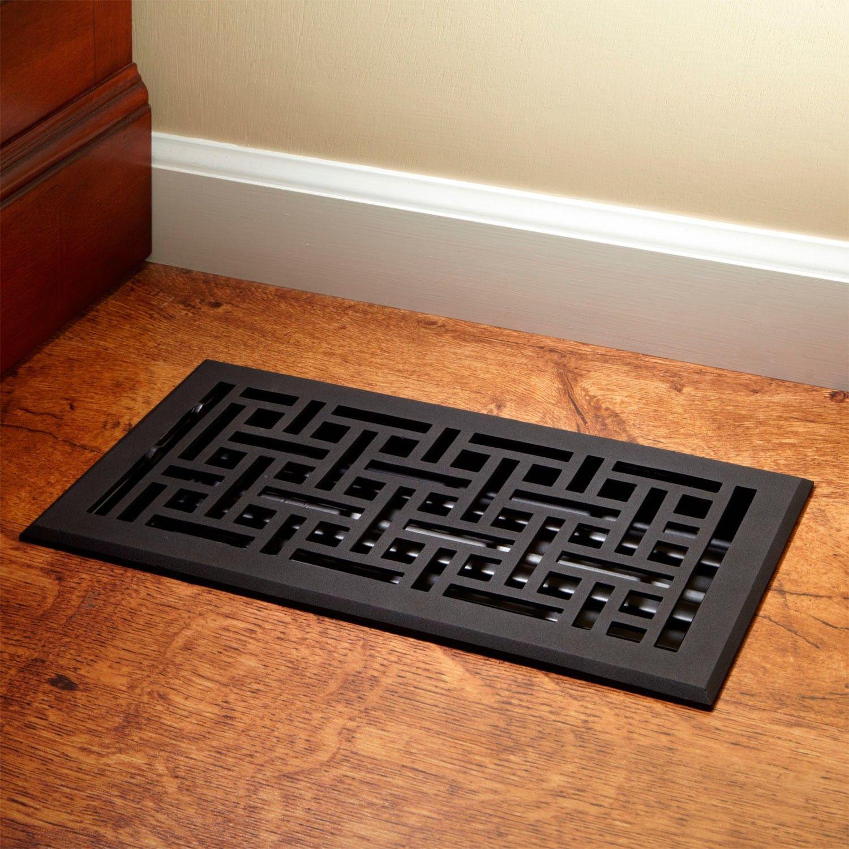 p x in floor grilles brushed nkl floors nickel register registers metallics steel