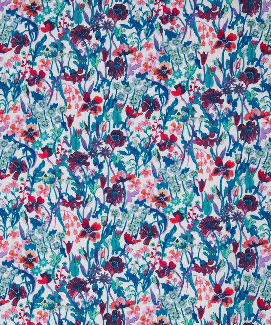 Hot Pink Summer Floral Flowers 100/% Cotton Poplin Fabric Skirt Dress Liberty