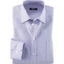 Walbusch Herren Business-Hemd Extraglatt Pima-Cotton Comfort Fit Kent-Kragen Lila kariert Walbusch