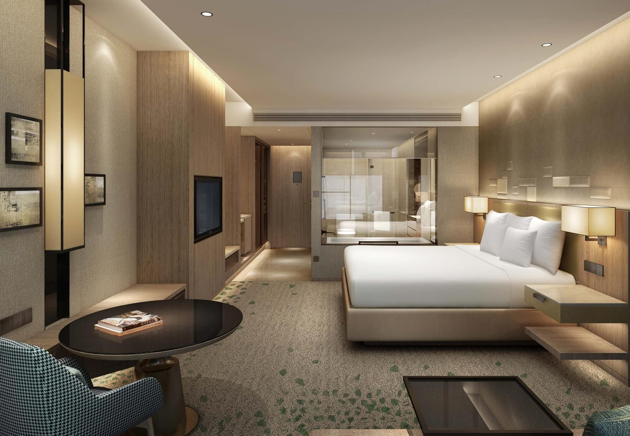 Chengdu Marriott Hotel Financial Centre Chengdu China Hotel Bedroom Design Hotel Room Design Hotel Room Plan