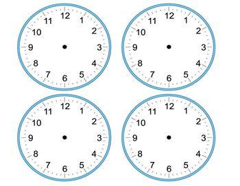 Blank Analog Clocks Clock Blank Clock Classroom Schedule