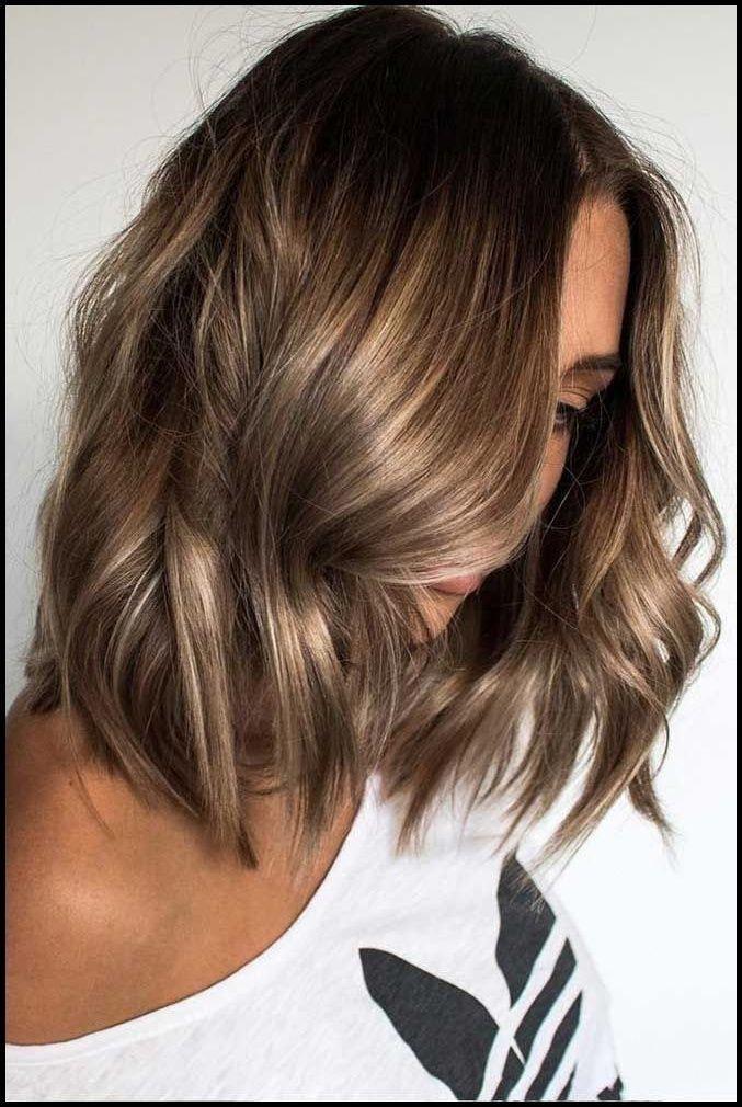 Brunette Blonde highlights Easy curls Short hair ideas Curls for … | #trendfri…