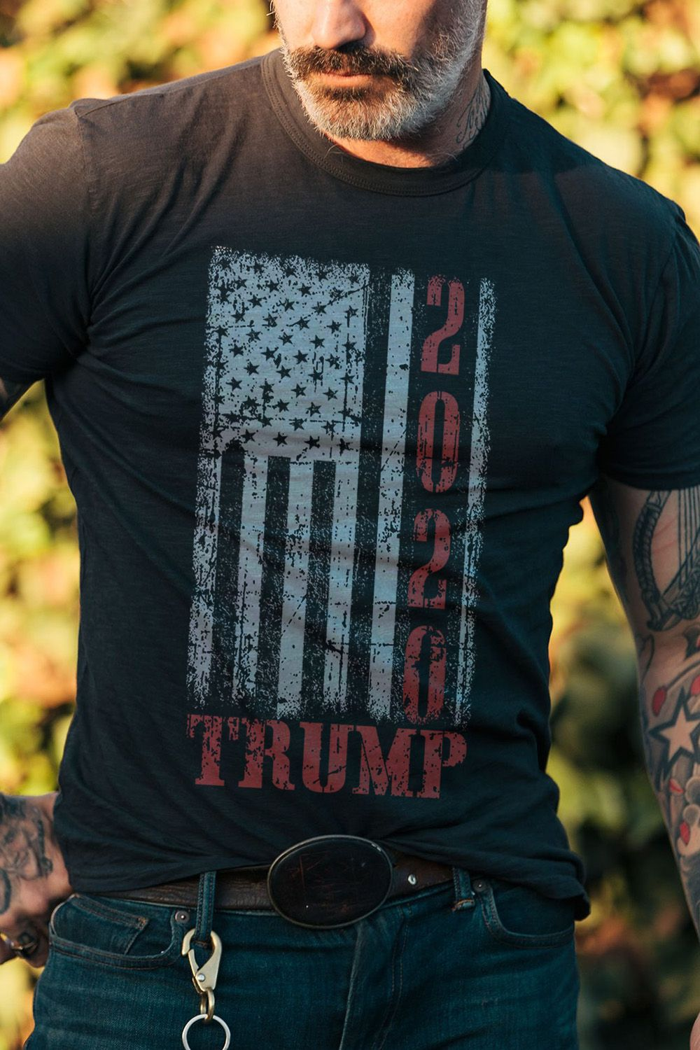 Birthday Gift Ideas For Men 2020 Vintage Design American Flag Trump 2020 T shirt. This is a great