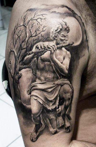 Realism Devil Tattoo by Proki Tattoo - http://worldtattoosgallery.com/realism-devil-tattoo-by-proki-tattoo/