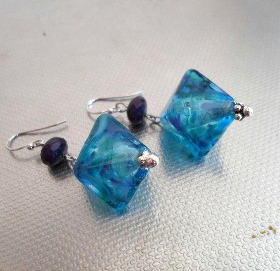 Lampwork Earrings Handmade Glass Earrings Handmade by CandanImrak