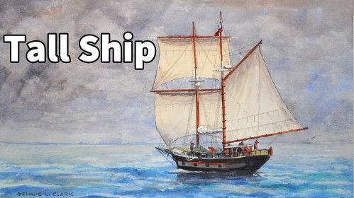 How to paint a Tall Ship in Watercolor - Online Art Lessons