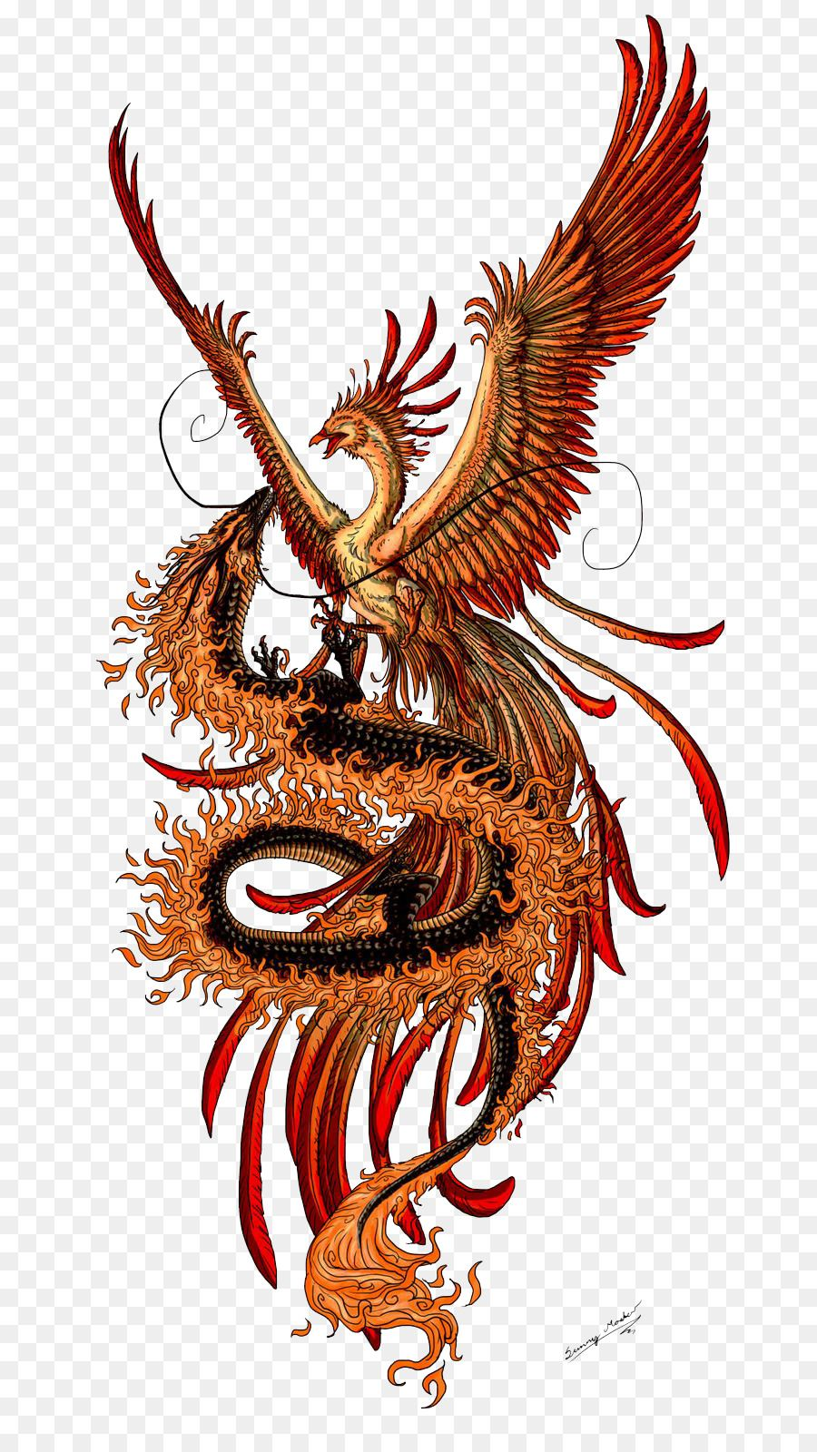 Phoenix Chinese Dragon Fenghuang Tattoo Phoenix Tattoos Png Transparent Images Png Is About I Phoenix Tattoo Tattoo Dragon And Phoenix Chinese Dragon Tattoos