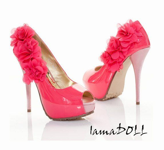hot pink high heel shoes -  shoes  Pinterest  Sexy Lady and Colors