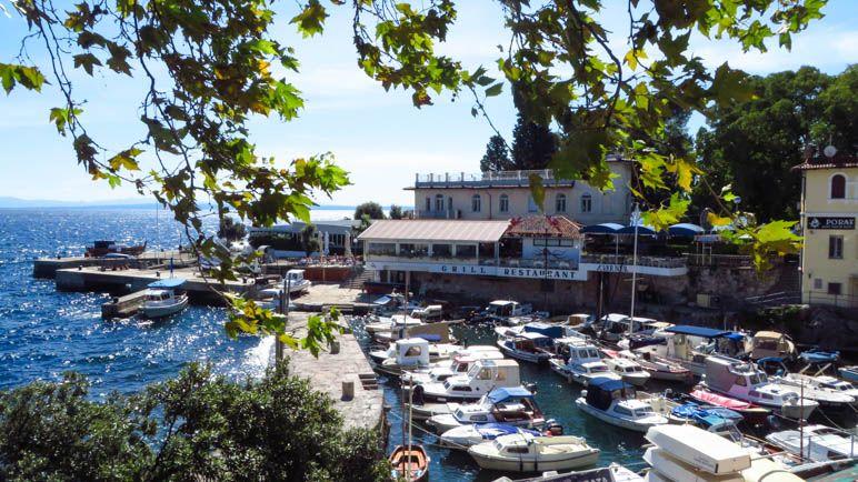 Der kleine, alte Hafen von Lovran