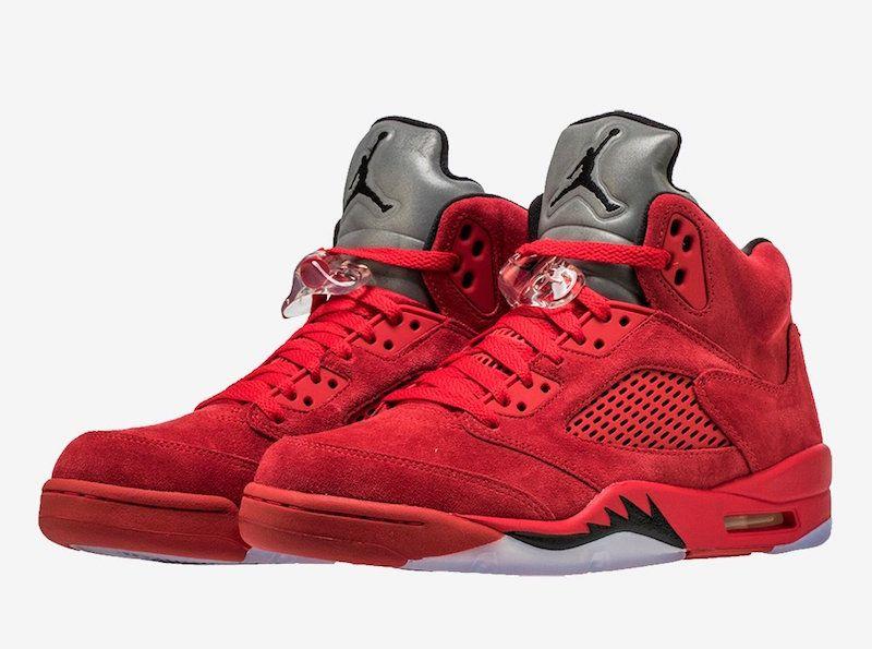 Air Jordan 5 Red Suede 136027 602 Release Date   KICKZ
