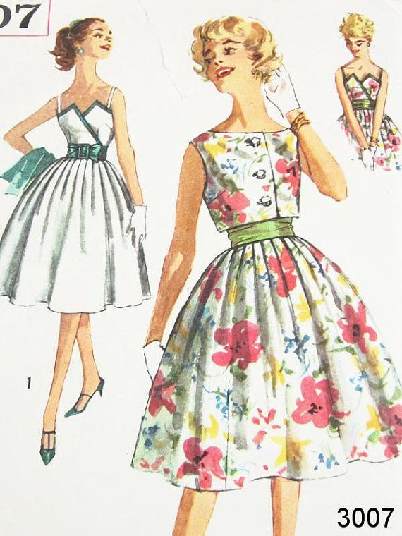 Vintage 50s Dress Pattern Uncut Simplicity by ThePatternSource ...