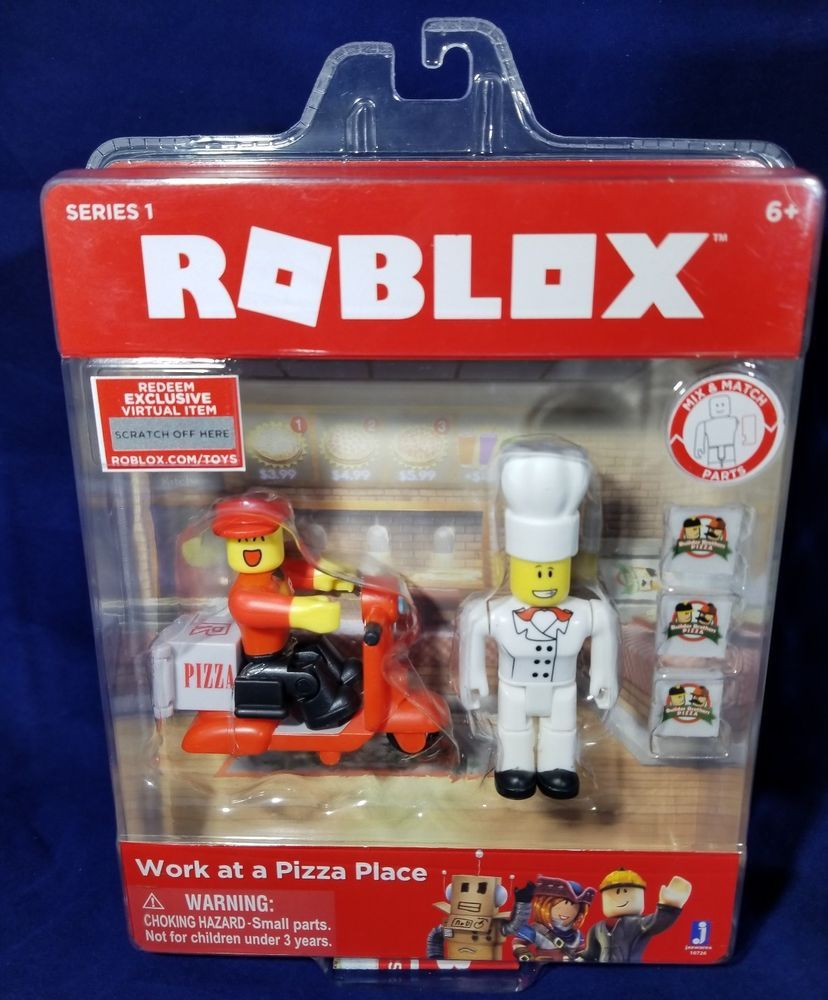 Roblox Club Boates Toy Code Roblox Series 1 Work At A Pizza Place Figure Pack Exclusive Online Code Sealed Pizza Place Roblox Online Coding