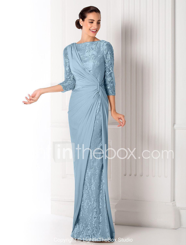 f986ec5df6ff Ίσια Γραμμή Bateau Neck Μακρύ Μεταλλική δαντέλα Ζέρσεϊ Χοροεσπερίδα    Επίσημο Βραδινό   Στρατιωτικός Χορός Φόρεμα