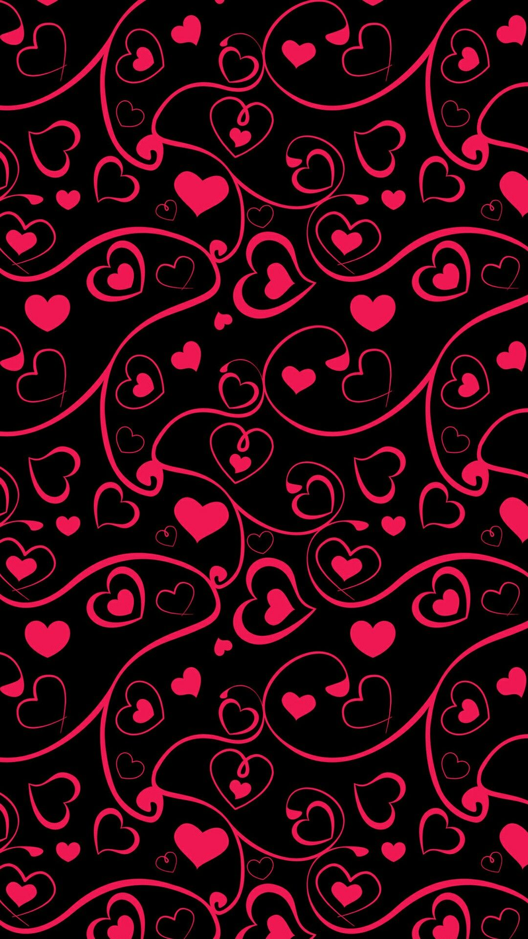Red Black Hearts Wallpaper Heart Wallpaper Backgrounds Phone Wallpapers Valentines Wallpaper