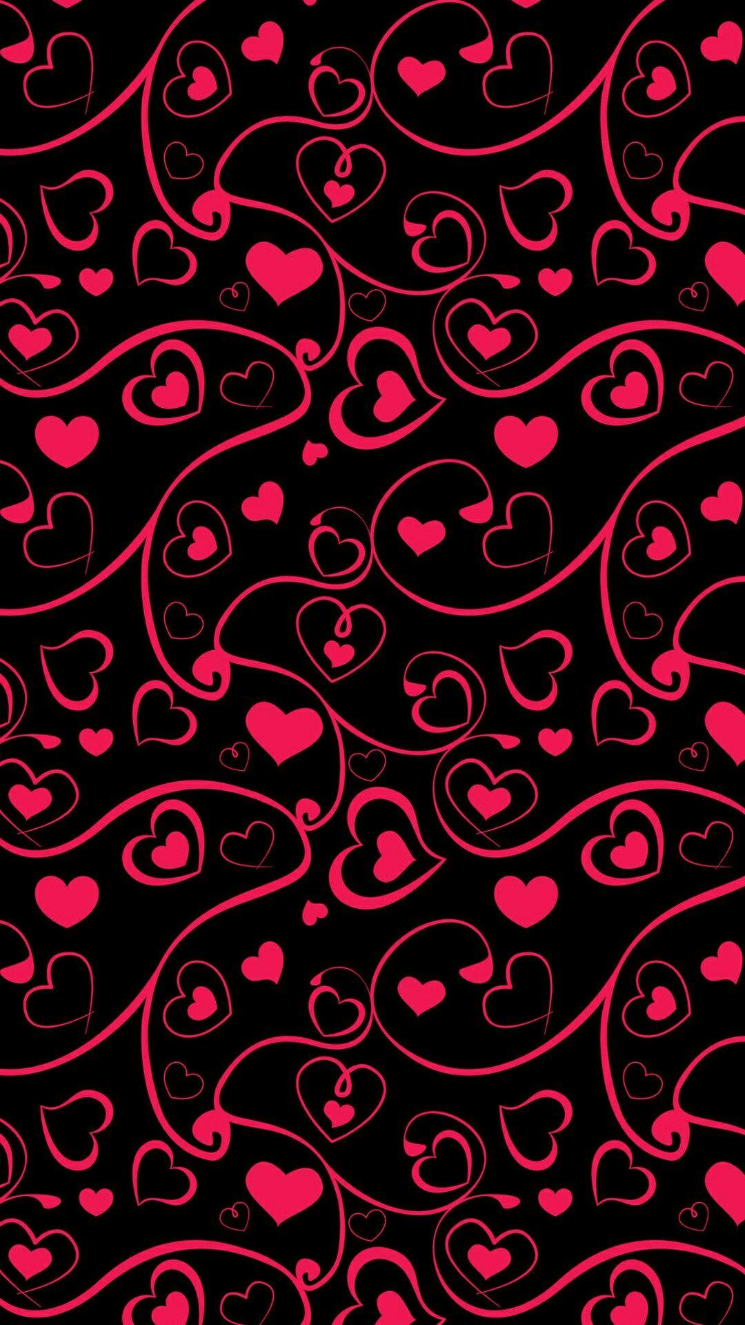 Red Black Hearts Wallpaper Heart Wallpaper Valentines