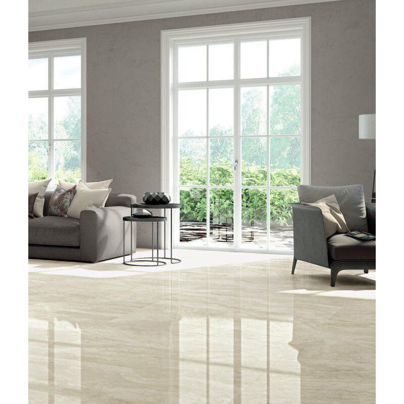 tile floor living room
