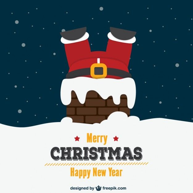 Download Christmas Card With Santa And Chimney For Free Christmas Card Templates Free Christmas Cards Free Christmas Card Template