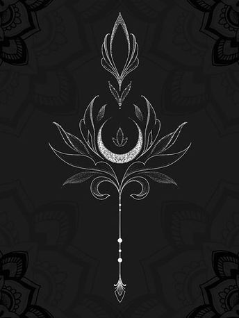 Sage art nouveau style crescent moon metalwire