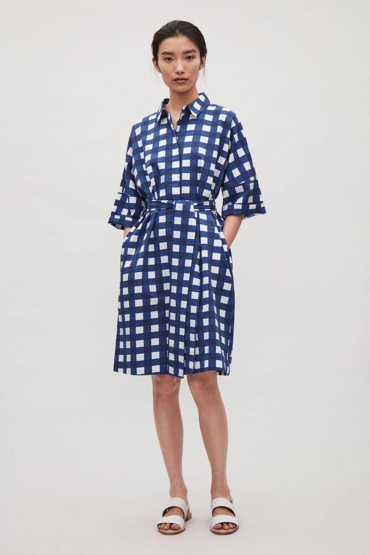 Wide belt shirt dress blue dresses cos fr cleanses blue
