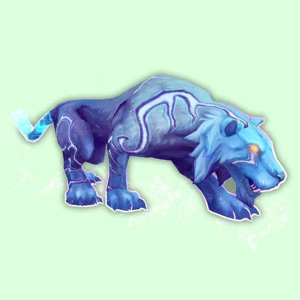 Blue Mana Saber Mana, Lion sculpture