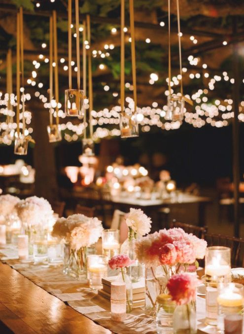 gorgeous #wedding lighting #centerpiece