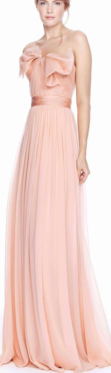 Ideas boda rosa, coral, durazno, beige, plata | vestidos de noche ...