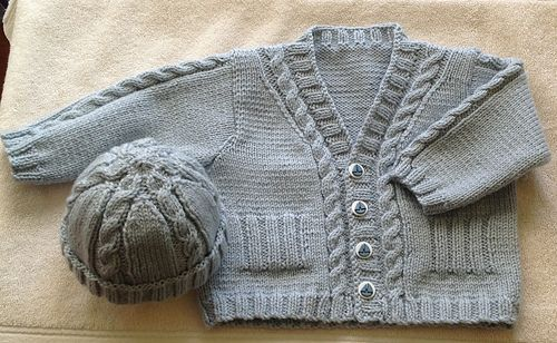 Ravelry: mzpennyb's Baby Cardigan with hat