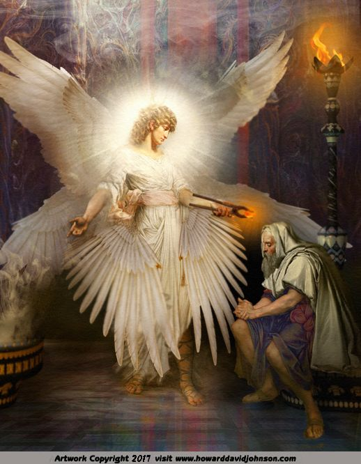 Seraphim Angel Art Painting Isaiah Vision Jewish With Images