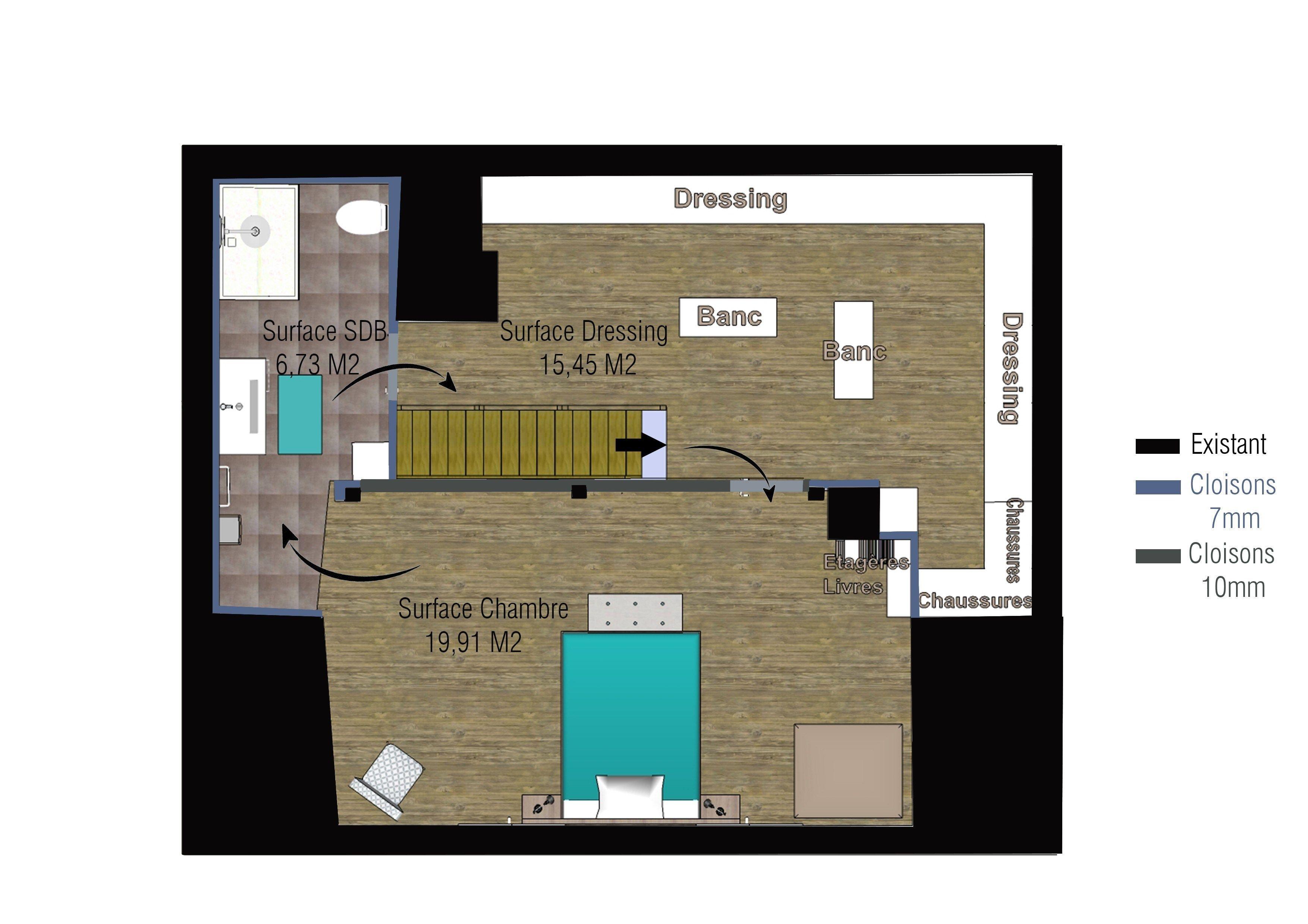 Best Of Plan Chambre Parentale 20m2 Floor Plans Bathroom Renovations Scandinavian Bathroom