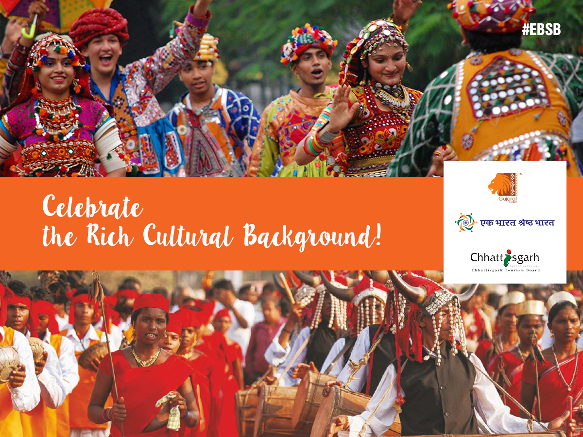 Connect with the captivating culture of #Gujarat and #Chhattisgarh that finds expression in its dance styles. #EBSB