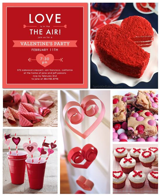 Perfekt Valentineu0027s Day Party Inspiration Board