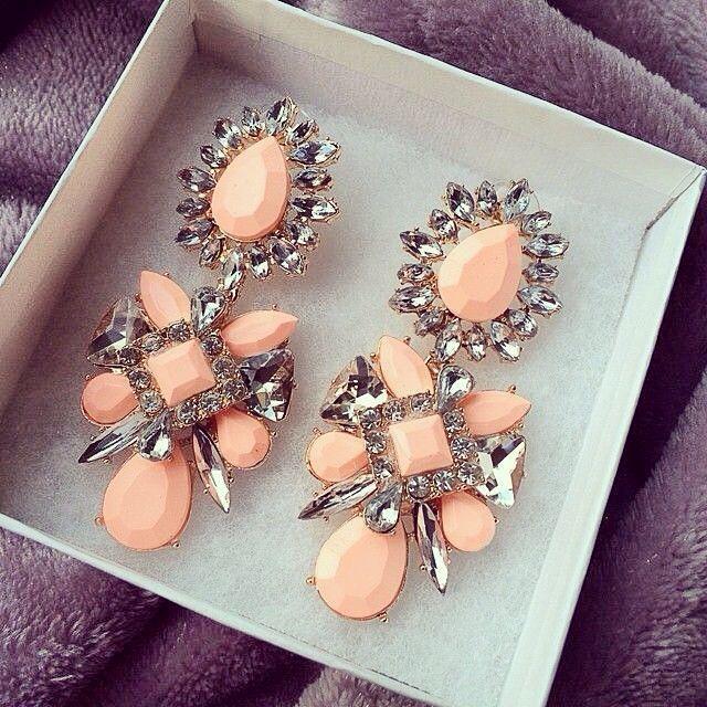 Statement drop coral pink earrings. PlanninShannon ☼