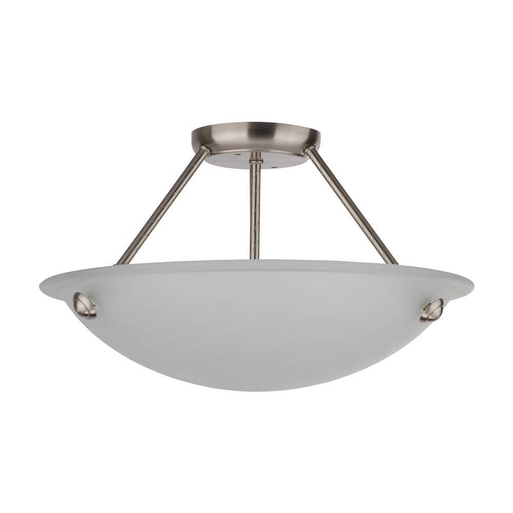 Whitfield Lighting SF0055-16AWSS Kirsten Semi Flush Ceiling Light | Lowe's Canada