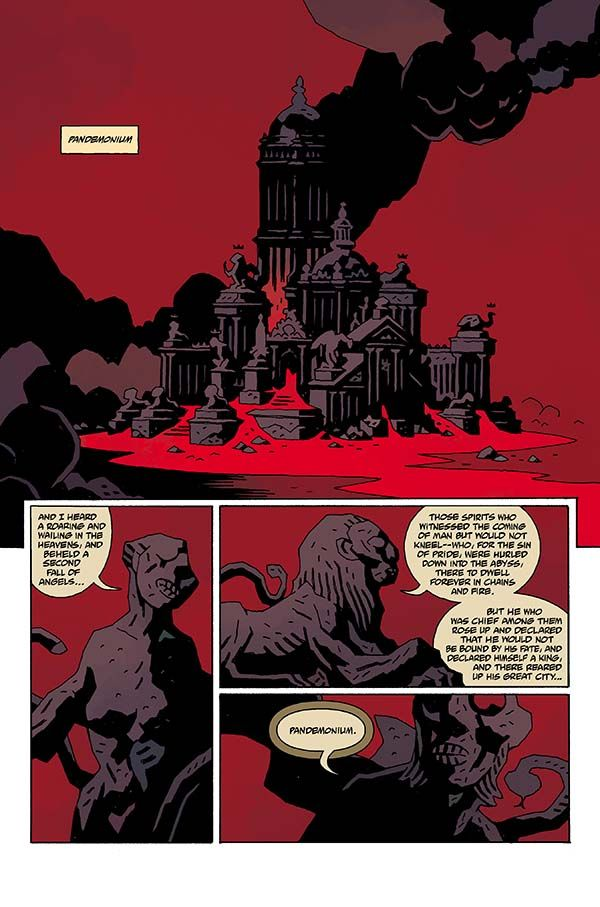 Hellboy in Hell #2 page by Mike Mignola