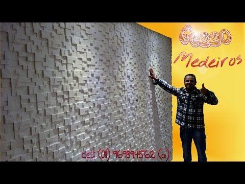 Aprenda a instalar placa de gesso 3D decorativas - YouTube