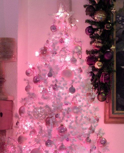pink christmas tree | All things pink | Pinterest | Pink christmas ...