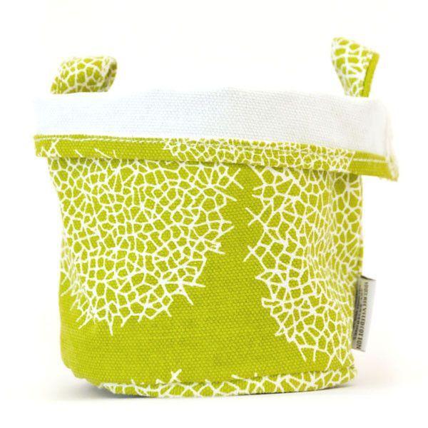 Lattice Recycled Canvas Bucket (Green)