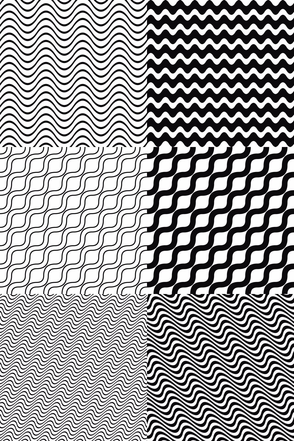 21 Seamless Black And White Wave Line Pattern Backgrounds