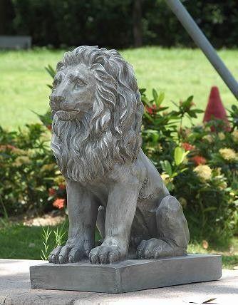 Porch Lion Looking Left Statue Garden Animal Statues Animal