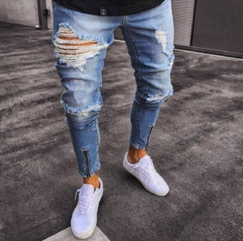 Pantalones Rotos Con Ziper Estilo Callejero Compralos Ya Te Prometemos Que No Te Vas Arrepe Estilo Hipster Masculino Estilos De Rua Para Homens Moda Masculina