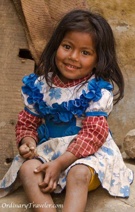 Panaouti, Nepal       Such a beautiful little girl!