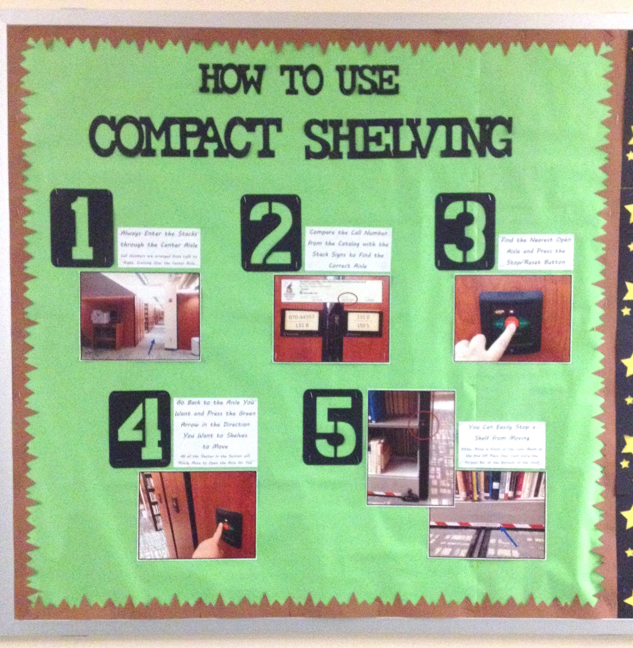 How To Use Compact Shelving Bulletin Board