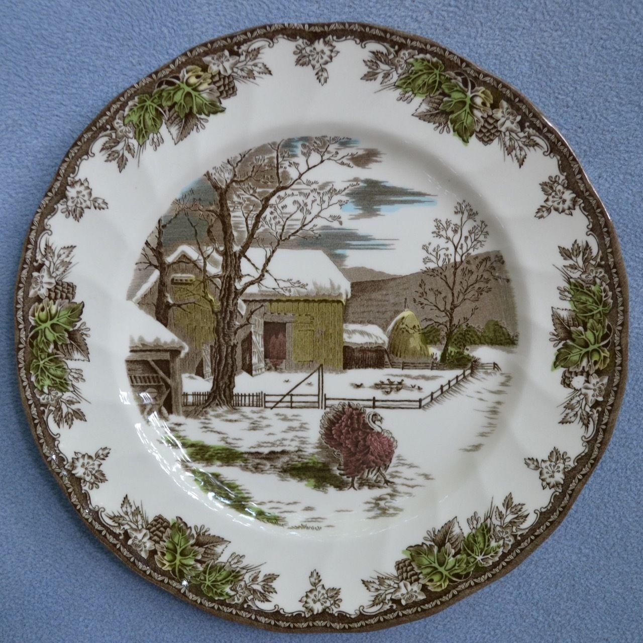 Vintage Johnson Brothers Friendly Village Buffet Dinner Plates w Turkey England | eBay & Vintage Johnson Brothers Friendly Village Buffet Dinner Plates w ...